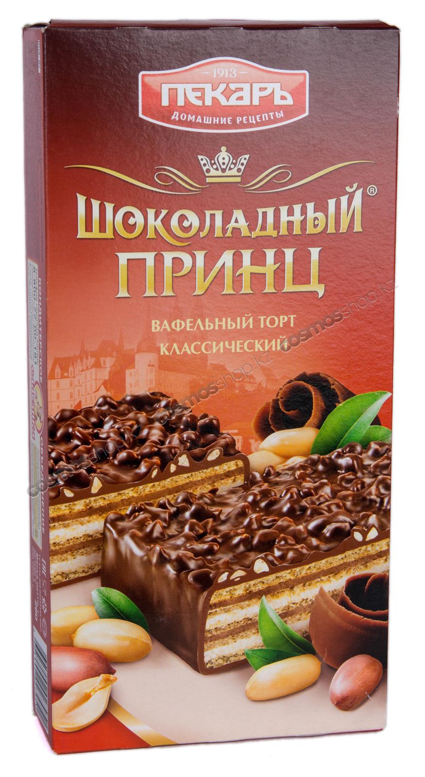 Торт вафельный шоколадный принц